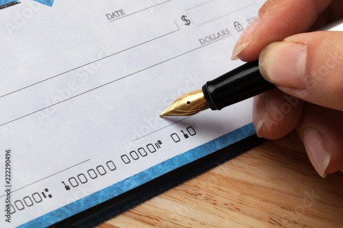 Sign Pen Currency Blank Check Ledger