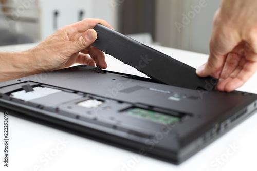 Laptop Notebook Reparatur oder Akku Tausch