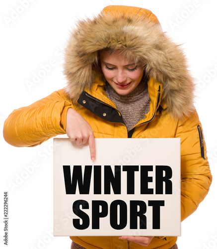 Fotobehang Wintersporten Wintersport