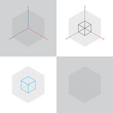 Isometric View, 3d Coordinates...