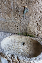 Very Ancient Washbasin Carved ...