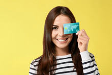 Young Woman With Credit Card O...