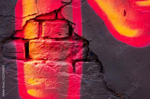 In de dag Graffiti graffiti wall