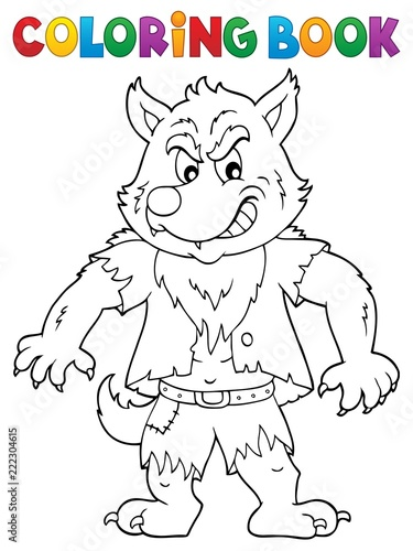Coloring book werewolf topic 1