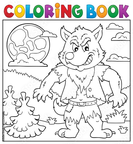 Coloring book werewolf topic 2