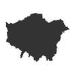 Детальная точная карта Лондона в высоком разрешении. Векторная иллюстрация.