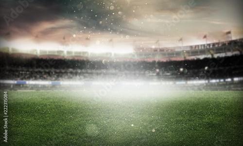 Obraz na plátně  Lights at night empty  stadium