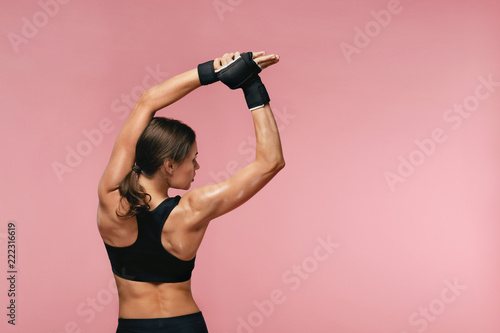 Fototapeta Stretch. Sport Woman Stretching Before Training obraz