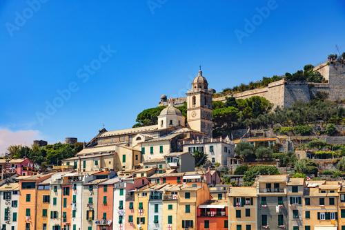 Fotografie, Tablou Portovenere, Cinque Terre, Ligurie, Italie -Panorama du port pittoresque et colo