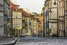 Warsaw Old Town Street With No People