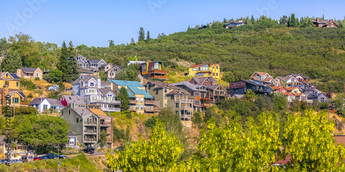 Foto  Homes on the hill Park City pano
