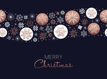 Merry Christmas Copper Snowfla...