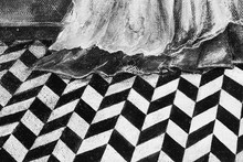 A Fragment Of The Picture. Tile Inlaid Checkerboard