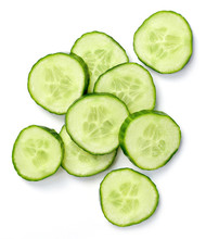 Fresh Cucumber Slices, Isolate...