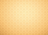 Gold wallpaper with damask pattern