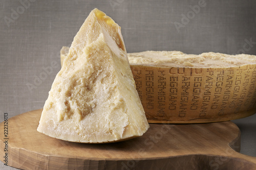Typical italian parmigiano cheese Canvas