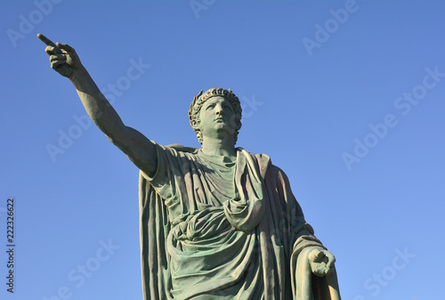Monument of Emperor Nero in Anzio. Italy. Canvas Print