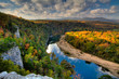 canvas print picture Buffalo National River from above
