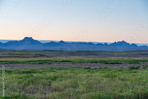 Spoed Foto op Canvas Khaki Icelandic landscapes in summer