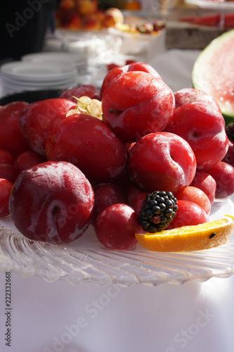 Poster Buffet, Bar Buffet di dolci e frutta