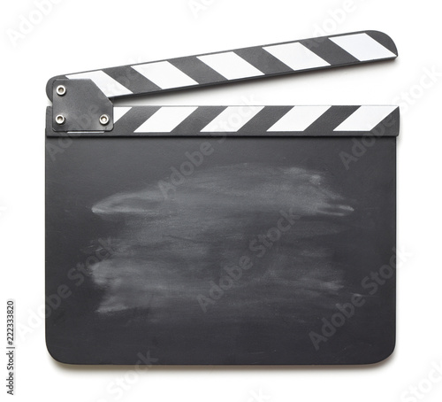 Fotografia Movie clapper on white background