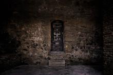 Medieval Narrow Wooden Door
