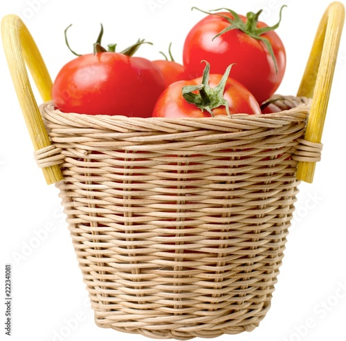 Fotografija  Basket full of tomatoes