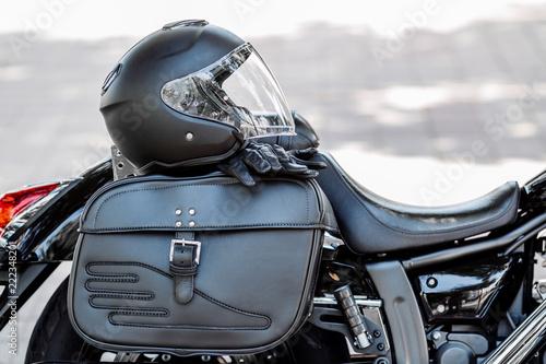 helmet and motorcycle
