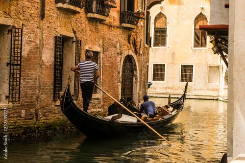 Foto op Plexiglas Venetie gondolas on grand canal in venice
