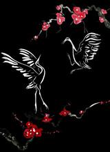 Japanese Cranes Bird Drawing ....