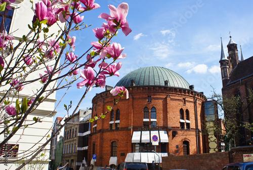 Fotografía Torun, Poland - 04/19/2014 - Facade of Nicolaus Copernicus Planetarium, old town