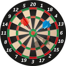 Vector Graphic Dart Mit Zwei Pfeilen