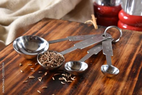 Foto op Canvas Aromatische Caraway Seeds