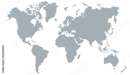 Acrylic Prints World Map CARTE DU MONDE SIMPLIFIÉE
