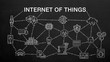 Various 'Internet of Things' chalk drawing icon animation.