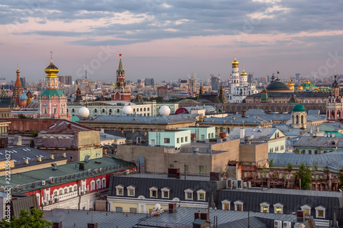 Foto  top evening view of Moscow Kremlin