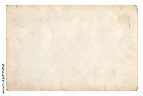 Foto op Canvas Retro Vintage paper background isolated - (clipping path included)