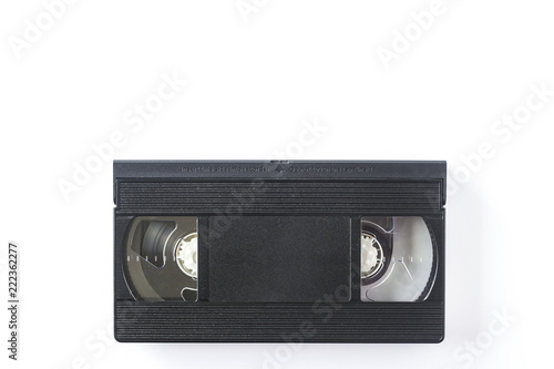Fotografija  Videocassette isolated on white background. View from above.