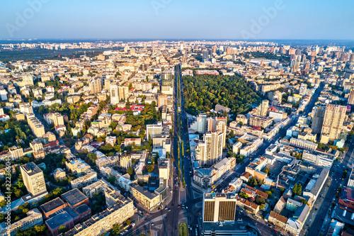 In de dag Centraal Europa Aerial view of Taras Shevchenko Boulevard in Kiev, Ukraine