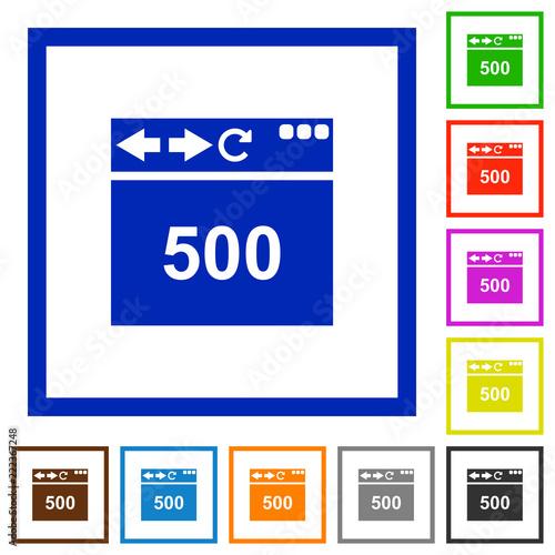 Foto  Browser 500 internal server error flat framed icons
