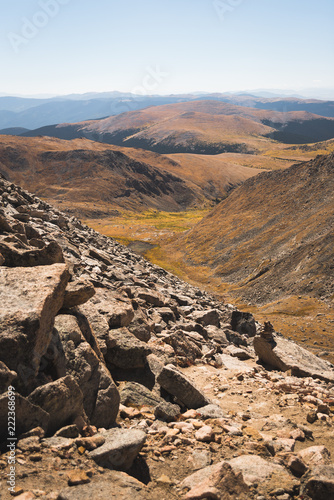 Foto op Aluminium Zalm Landscape view of the Rocky Mountains from the top of Mount Evans in Colorado.