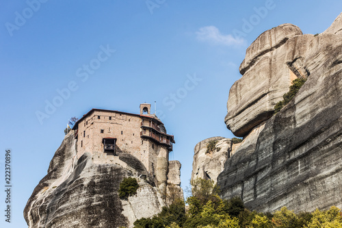 Tuinposter Historisch geb. Monastery of St. Nicholas Anapausas Meteora, Greece