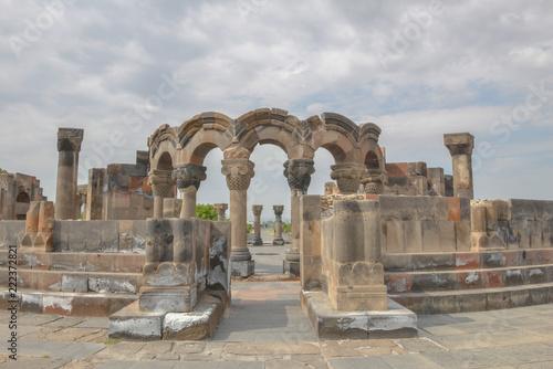 Foto op Aluminium Rudnes Ruins of the Temple of Zvartnots, Armenia.