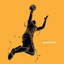 Basketball Player Splash Silhouette