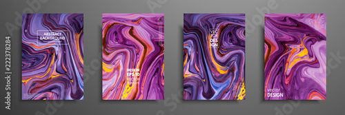 Obraz Swirls of marble or the ripples of agate. Liquid marble texture. Fluid art. Applicable for design covers, presentation, invitation, flyers, annual reports, posters and business cards. Modern artwork - fototapety do salonu