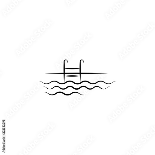 swimming pool icon. Element of anti aging icon for mobile ...