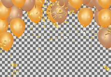 Orange Rose Gold Balloon Banne...