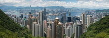 Panorama View Of Hong Kong Skyline View From The Peak