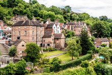 Houses And The River Severn In...