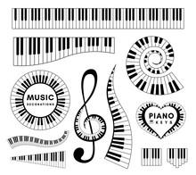 Piano Keys Decorative Design E...